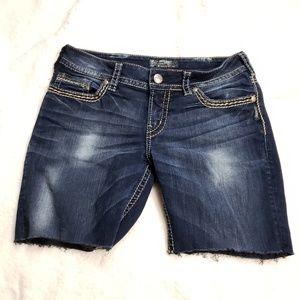 Silver Suki Skinny Cutoff Shorts